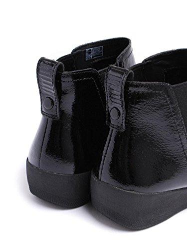 Superchelsea De Fitflop Botas Todo Negro Patente Todo Negro Patente