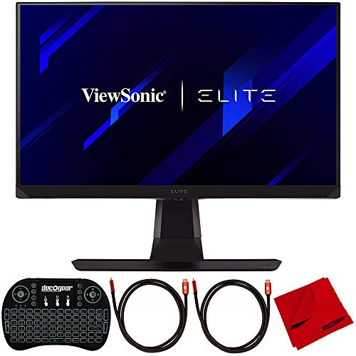 ViewSonic Elite XG270QG 27-inch WQHD 1ms 165Hz IPS Gaming Monitor Bundle with Deco Gear Wireless Backlit Keyboard, 2X 6FT HDMI Cable and Deco Gear Microfiber Cleaning Cloth