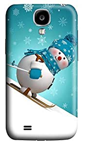 S4 Case, Samsung S4 Case, Customized Protective Samsung Galaxy S4 Hard 3D Cases - Personalized Sking Snowman Cover