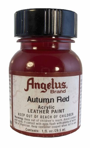 Springfield Leather Company's Autumn Red Acrylic Leather Paint (Red Leather Dye)