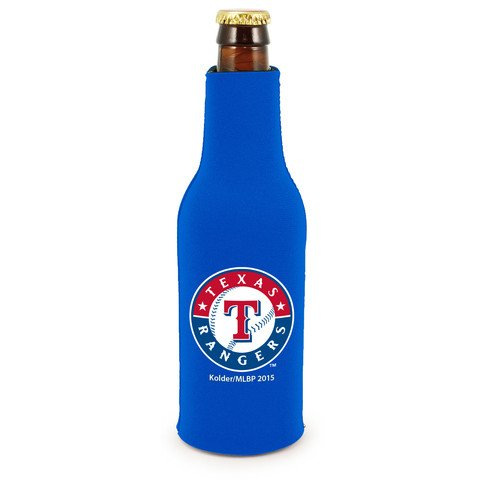 Texas Rangers Official MLB Insulated Coozie Bottle Cooler by (Insulated Stadium Jacket)