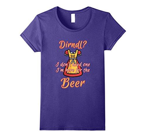 Womens Funny oktoberfest dirndl women Shirts Large Purple (Womens Oktoberfest Outfit)