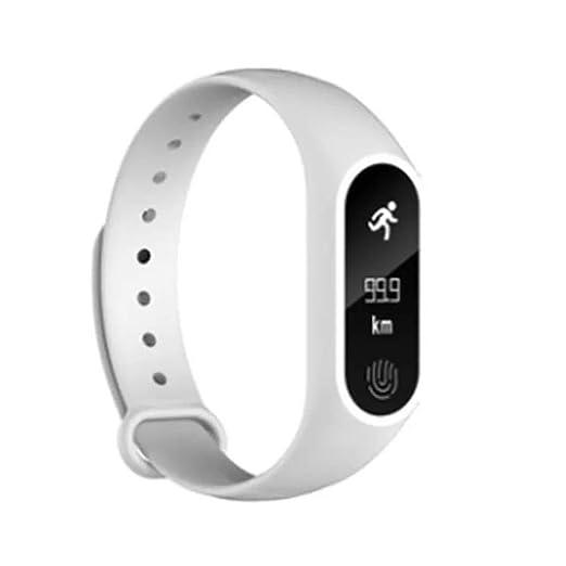 jiameng smartwatches - Smartwatch Inteligente Bluetooth 4.0 de la frecuencia cardíaca del Brazalete del podómetro de Deporte de M2 Reloj Inteligente Bianco: ...