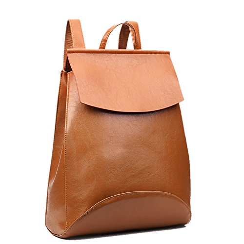 Teens Shoulder Solid Mochila Wax Satchel Hot 2017 Backpack Fashion ShiningLove Oil Bag Color Leather Concise PU Claret Schoolbag n18xaP