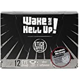 Wake The Hell Up Coffee, Jamaican Me Crazy Flavored, Ultra-Caffeinated Single Serve Capsules For Keurig K-Cup Brewers, 12 Count, 2.0 Compatible
