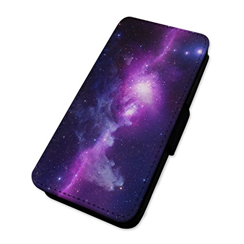 Nebula Space Sky–Custodia ad aletta in pelle copertura di carta Apple Iphone 8