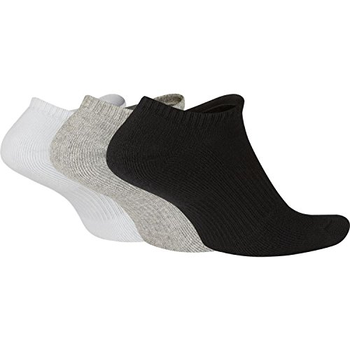 Nike Cotton Cushion No Show Ankle Socks (3 Pack) Multi-Color SX4702-901 Size Large (8-12)