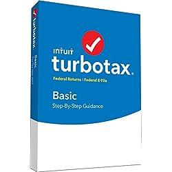TurboTax Basic Tax Software 2017 Fed + Efile PC/MAC Disc