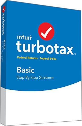 TurboTax Basic Tax Software 2017 Fed + Efile PC/MAC Disc