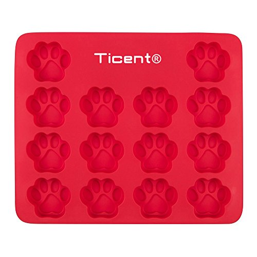 [Ticent Dog Paws Cake Pan Baking Molds for Kids, Pets, Dog-lovers, 100% Food Grade Silicone, No BPA, 10 by 12] (Homemade Halloween Decorations Made From Paper)