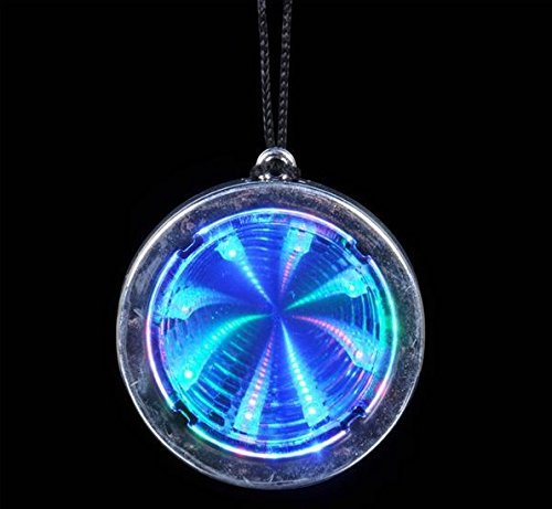 Flashing Panda Lot of 12 LED Flashing Multi-Color Infinity Tunnel Necklaces]()