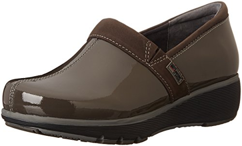 SoftWalk Women's Grey's Anatomy Meredith Clog, Dark Grey Patent, 6 M (Dark Grey Patent Footwear)