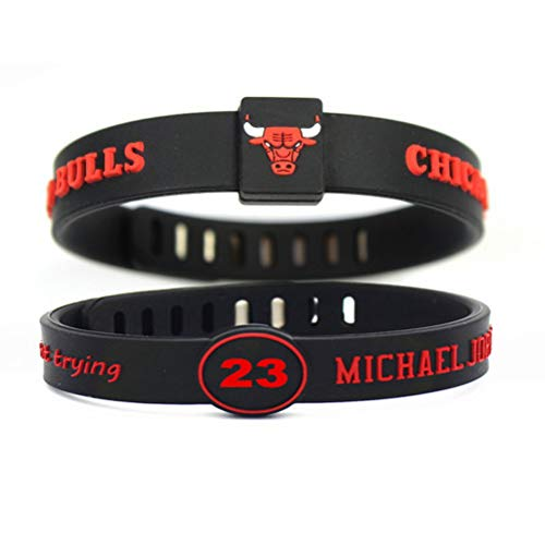 Adjustable Silicone Wristband Bracelets for Sports Fans-Awesome Gift for Your Family and Friends. (Bulls23)