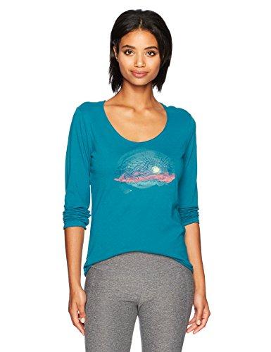 Life is Good Women's Long Sleeve Smooth Tee Truck Flow Seablu T-Shirt, Sea Blue, Medium