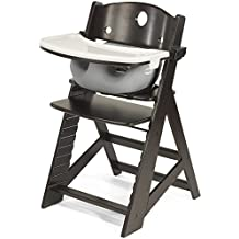 Height Right HIGH Chair Espresso with Grey Infant Insert and Tray