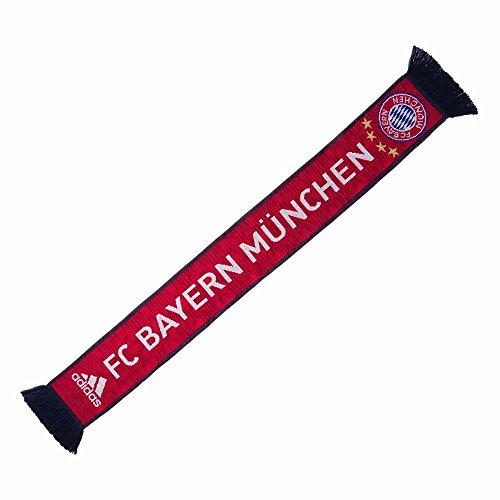 adidas 2018-2019 Bayern Munich 3S Scarf (Bayern Munich 3 Stripe)