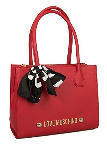 totes Moschino Love Soft Pu Mujer 0500 Borsa Bolsos Rosso Grain PqfTq
