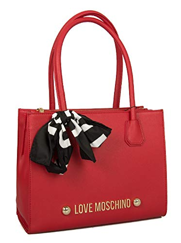 Bolsos totes 0500 Borsa Grain Rosso Soft Moschino Pu Mujer Love YqSX4X