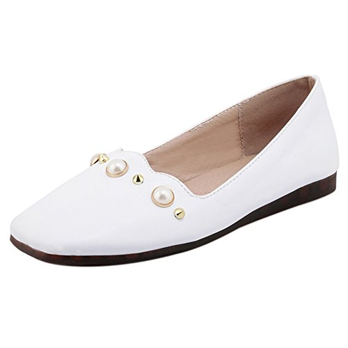 Pumps Toe KemeKiss Women White Square tw4fXExf