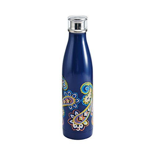 BYO 5212994 Perfect Seal Vacuum Insulated Double Wall Bottle, 25-Ounce, Yellow Dot ()