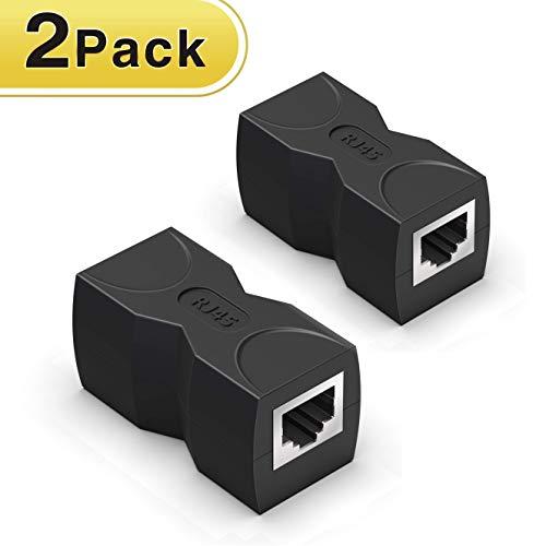 RJ45 Coupler/Ethernet Coupler,Wenter 2 Pack in Line Coupler Cat7 Cat6 Cat5e Ethernet Cable Extender Adapter Female to Female ()