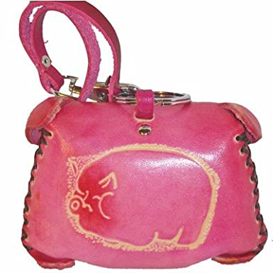 Amazon.com: Adorable cartera de piel, Piggy Face Pattern ...