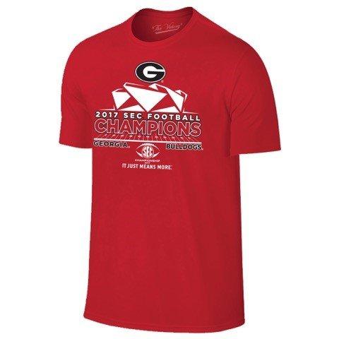 - Georgia Bulldogs 2017 SEC Champions Locker Room Red T-Shirt (M)
