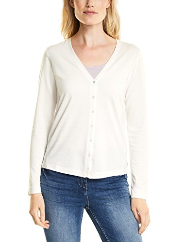Wei 10125 Off Cardigan Donna Cecil pure White wqnR0Uxzx7