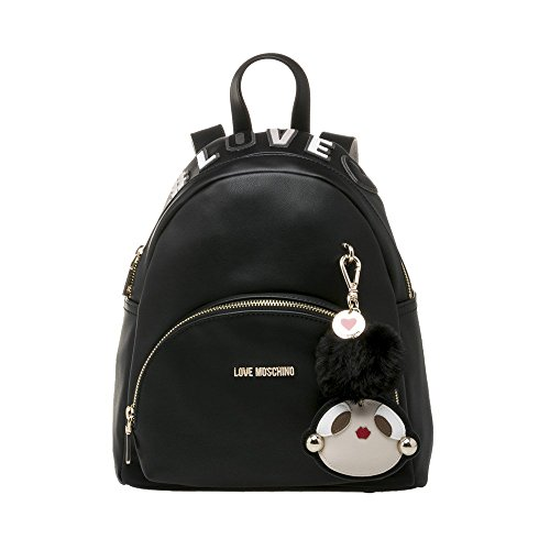 Love Moschino Logo Charm Womens Handbag Black