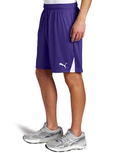 Der PUMA Herren Shorts ohne inneren Rutschkupplung Violett / Weiß (Team Violet-white)