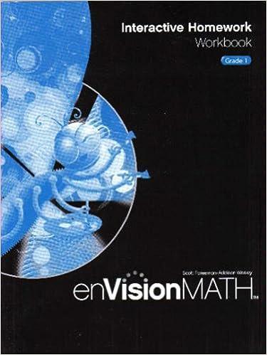 enVision Math: Interactive Homework Workbook, Grade 1: Scott ...