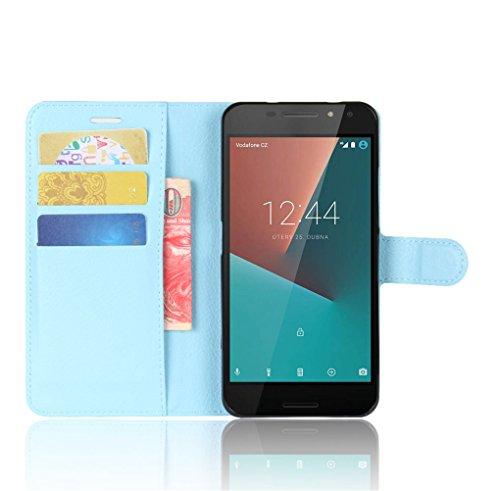 Funda Vodafone smart N8,Manyip Caja del teléfono del cuero,Protector de Pantalla de Slim Case Estilo Billetera con Ranuras para Tarjetas, Soporte Plegable, Cierre Magnético E