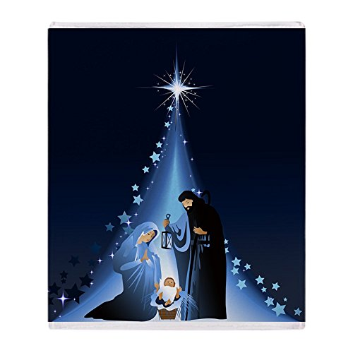 CafePress Nativity Scene Soft Fleece Throw Blanket, 50