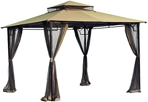 Sunjoy 110109144 10 x 10 bambú Gazebo toldo de Repuesto Set: Amazon.es: Jardín