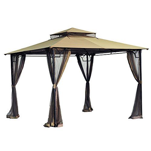 - Sunjoy Replacement Canopy Set for 10x10 Bamboo Gazebo