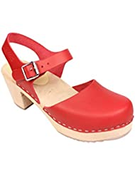 Lotta From Stockholm : Highwood Mary Jane Style in Red Leather