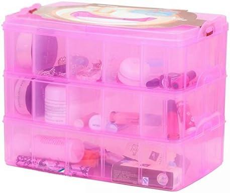 Stackable Storage Box 3tier Craft Organiser Case For Crafts Jewellery Adjustable