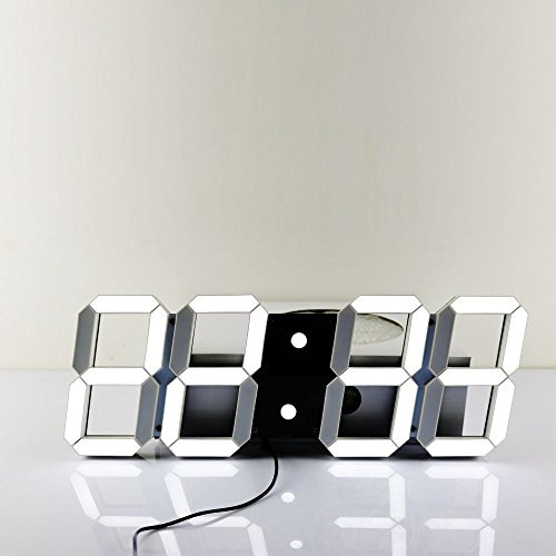 Mochiglory Jumbo Digital LED Modern Wall Clock
