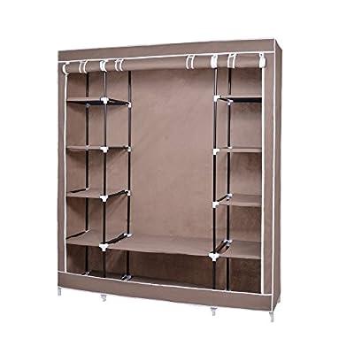 Amazon.com: Fabric Wardrobe Bedroom Furniture Closet Storage Cupboard Hanging  Clothes Shelf: Home