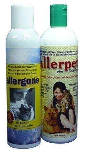Allerpet plus Fellpflege + Allergone Textilspray Kombipaket