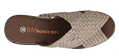 Bernie Mev Womens, Lori Slide Sandal Bronze