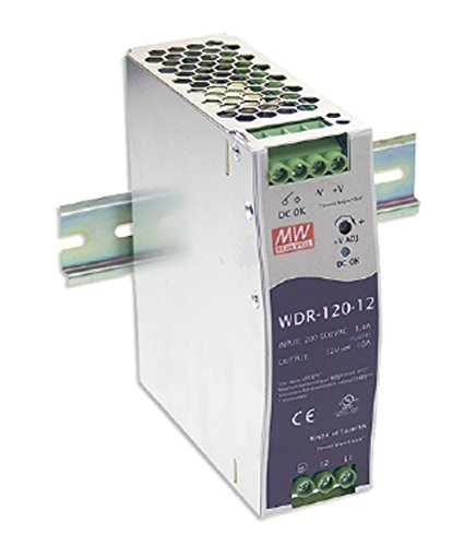 MEAN WELL WDR-120-12 Power Supply Switching Din Rail 120W 12 VDC, 10 Amp