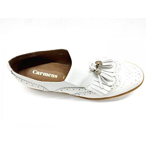 Carmens Mocassins Pour Femme Blanc Bianco