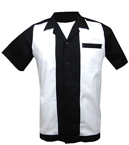 1950s/1960s Rockabilly ,Bowling, Retro, Vintage Men's Shirt (Small) ()