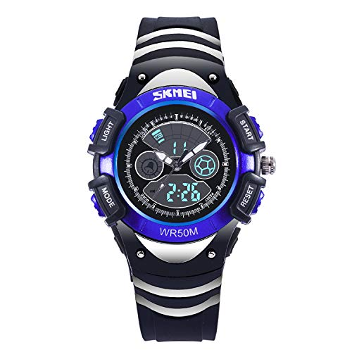 Logo Team Glass Under (Boys Digital and Analog Watches Kids Sports Waterproof Wrist Watch for Child,Children Gift)