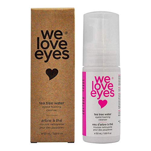 We Love Eyes – 100% Oil Free Tea Tree Water Eyelid Foaming Cleanser – For Eyelash Extension Home Care, Extend Lash…