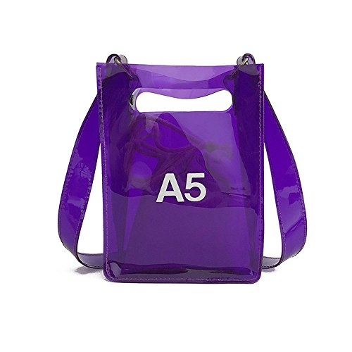 Purse With Bag Inner Adjustable Strap Messenger Women For Purple Handbag Shoulder Nfl small Crossbody Stadium Approved Clear fp48nIn