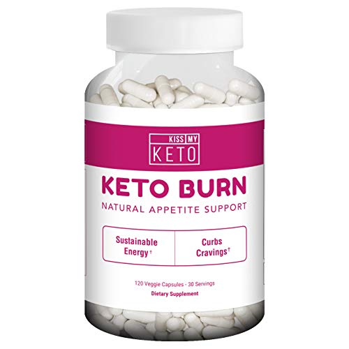 Kiss My Keto Burn Capsules - 120 Vegetable Capsules for Natural Appetite Support, L Carnitine, Garcinia Cambogia, Apple Cider Vinegar, CLA, Coleus Forskohlii