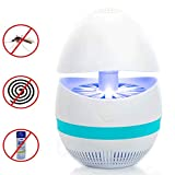 Averill Bay Bug Zapper - Fly Traps Indoor, USB Powered Nontoxic Mosquito Killer Lamp, Built in Vacuun Fan Insect Traps Catch, Eco-Friendly for Travel and Single Room Use (White)