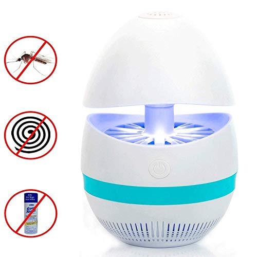Averill Bay Bug Zapper - Fly Traps Indoor, USB Powered Nontoxic Mosquito Killer Lamp, Built in Vacuun Fan Insect Traps Catch, Eco-Friendly for Travel and Single Room Use (White) by Averill Bay